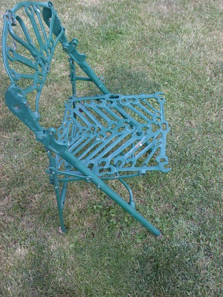 Wow ... folding chair, made from tools.