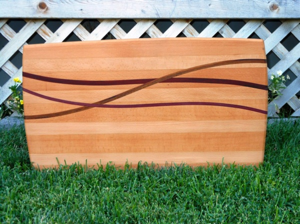 Each line is a different naturally colored wood.