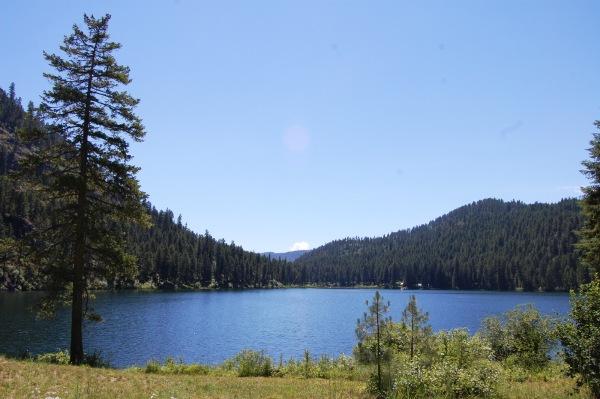 Heading north at Lake Pierre