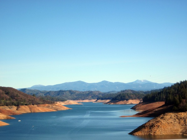 Lake Shasta .. the water is  a little low.