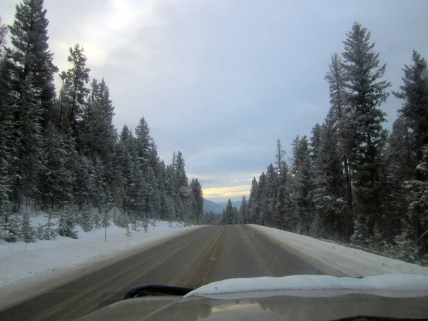 Early morning winter driving ...