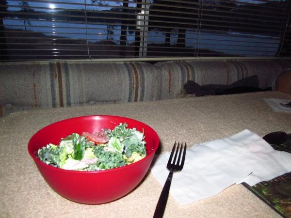 ... supper (a light salad) ...