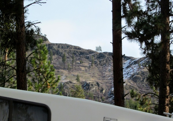 Hills behind us ...
