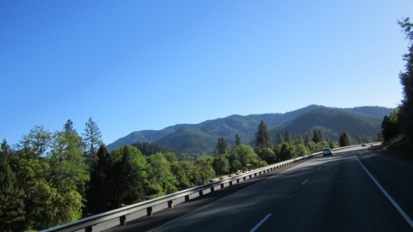 Passing the switchbacks in Southern Oregon.