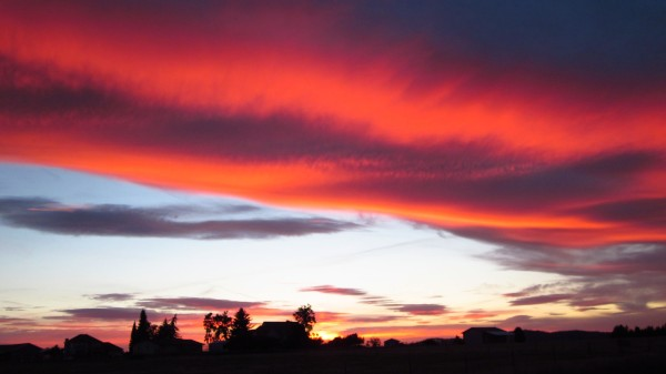 Red sky at night ... sailors delight