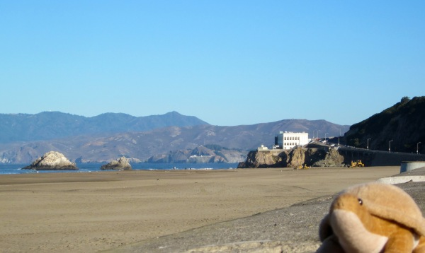 That's the Cliff House in the distance.