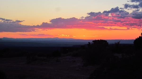... and enjoy the sunsets over the vast desert.
